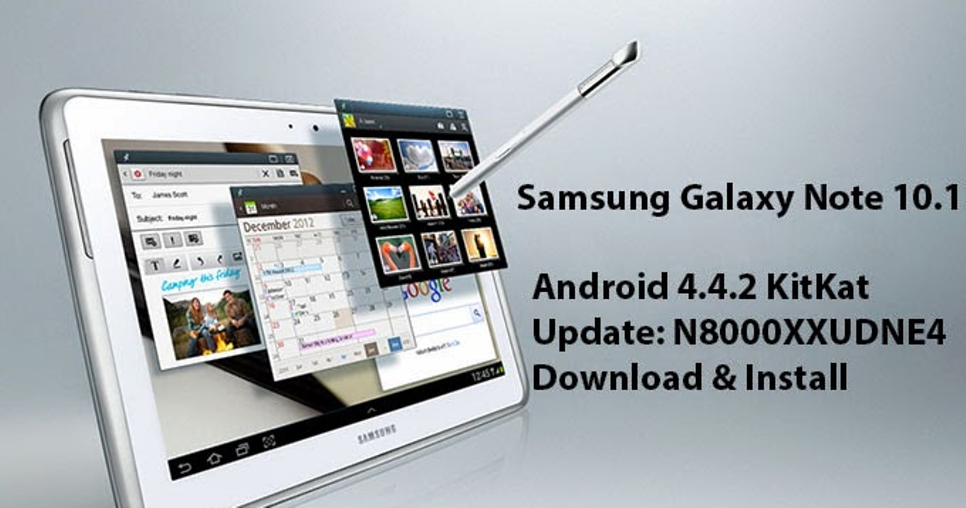 Samsung Galaxy Note 10.1 Android 4.4.2 KitKat Update